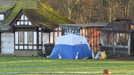 A police tent in Finsbury Park where Iuliana's body was found on Wednesday afternoon. Picture: Polly