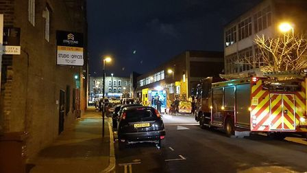 Police at the scene of the illegal rave. Picture: @999London