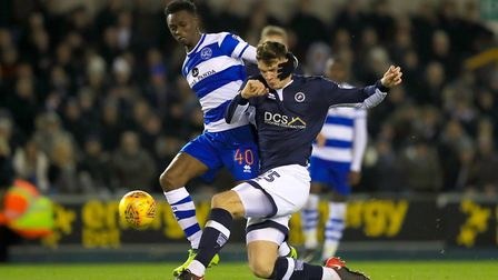 Queens Park Rangers' Idrissa Sylla (left) and Millwall's Jake Cooper (pic: Mike Egerton/PA)