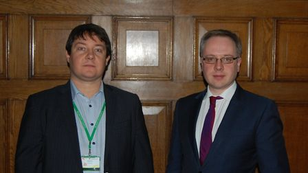Cllrs Andy Hull and Richard Watts, pictured a year ago, gave a briefing on the 2018/19 budget. Pictu