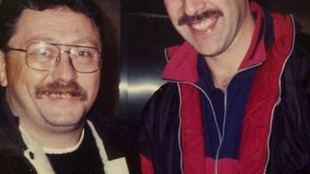 Micky Brock with David Seaman in the mid 1990s