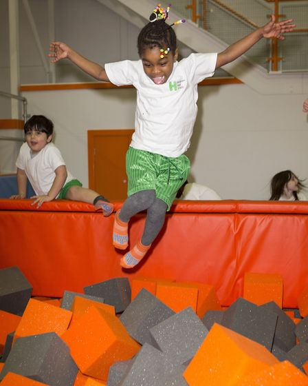 The two-storey trampoline park is opening after a long delay. Picture: Steve Bainbridge
