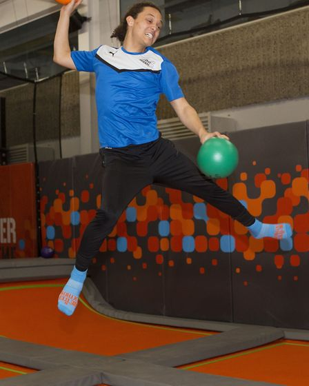 Users get to grips with the trampoline park at the Sobell. Picture: Steve Bainbridge
