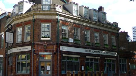 The Blacksmith and Toffeemaker pub in St John Street, Finsbury, has gone completely vegan. Picture: