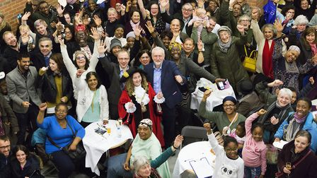 Jeremy Corbyn, centre, joins the celebrations at the opening of Brickworks community centre and 23 n