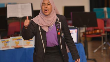Ark Elvin Academy student Aisha Abdirahman, 14, came out on top in the annual Brent 'speak out chall