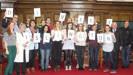 Islington Council staff, as well as members of the public, are trying to make the town hall divest i