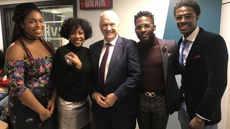From left to right: Florence Onwumere (SU officer), Georgia Robinson (SU officer), Prof John Raftery
