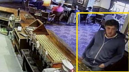 Darren Osborne at the bar of the Hollybush in Cardiff, 28 hours before the attack and where he was s