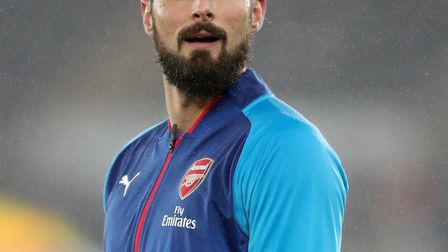 Olivier Giroud made his final Arsenal appearance at Swansea City at the end of January. Picture: Nic