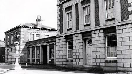 The Royal Free fountain, left, in 1976. Picture: ISLINGTON LOCAL HISTORY CENTRE