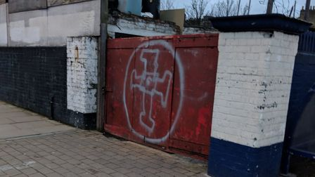Nazi graffiti outside Drayton Park station was reported to police on Sunday, the day after Holocaust