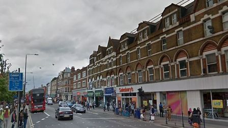 A man has died following a collision with a lorry in Kilburn High Road (Picture: Google)