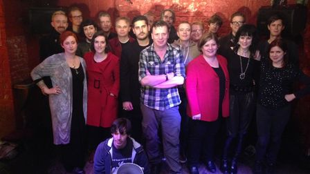 MP Emily Thornberry and campaigners at the Buffalo Bar in 2014.