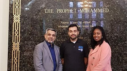 Brent Council leader Mohammed Butt with Dawn Butler MP at Visit My Mosque Day