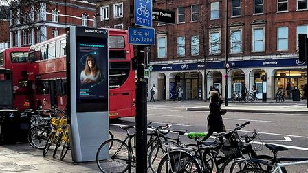 An InLink machine in Islington. Picture: InLink