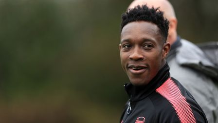 Arsenal's Danny Welbeck during a training session at London Colney.
