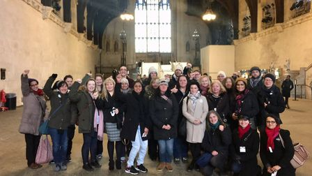Members of the Brent NEU making a stand in the House of Parliament. Photo by Brent NEU