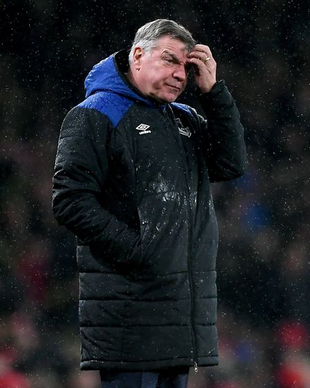 Everton manager Sam Allardyce appears dejected during the Premier League match at the Emirates Stadi