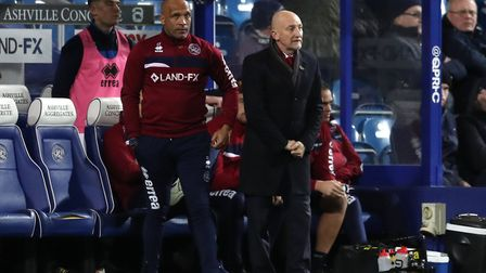 Queens Park Rangers manager Ian Holloway (right) along with first-team coach Chris Fleming (pic: Ada