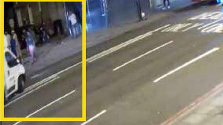 CCTV still showing a van driving into worshippers in the Seven Sisters Road terror attack on June 19