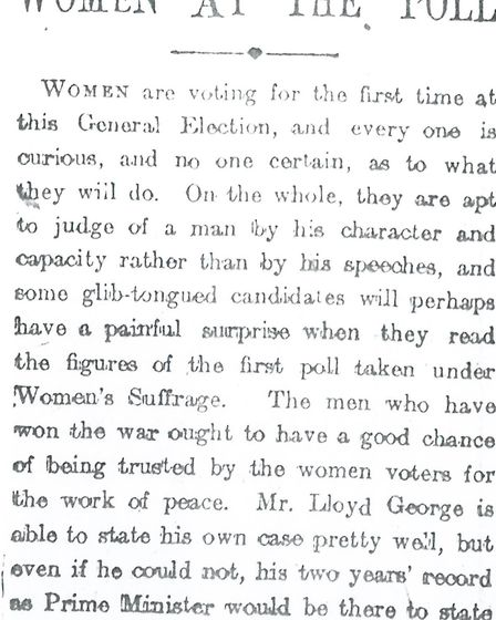 The Islington Daily Gazette's reporting of the 1918 General Election. Picture: Islington Local Histo
