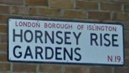 A man died in a flat fire in Hornsey Rise Gardens yesterday morning. Picture: Google Street View
