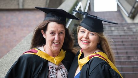 Debbie Pearson (MSc in charity marketing and fundraising) and her daughter, Bridie Pearson-Jones (MA