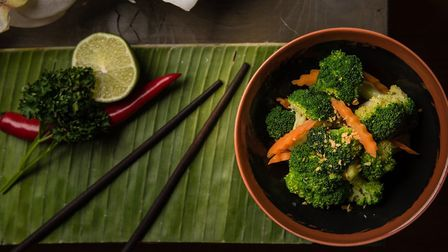 Stir-fried broccoli is on the vegan menu at Thai Square in Upper Street. Picture: Thai Square