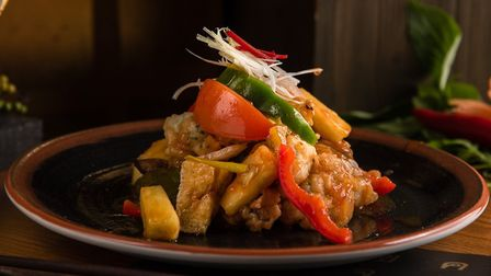 A sweet and sour tofu dish at Thai Square. Picture: Thai Square
