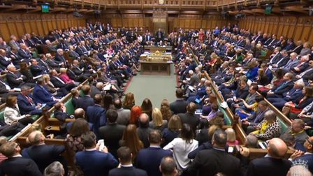 MPs pack the chamber at the conclusion of the debate ahead of a vote on the Prime Minister's Brexit