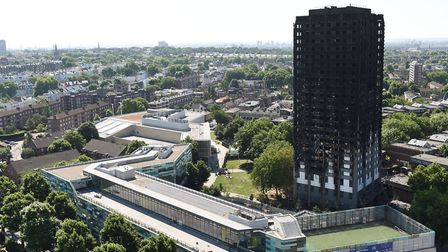 The charred remains of Grenfell Tower in Kensington. Picture: David Mirzoeff/PA Wire