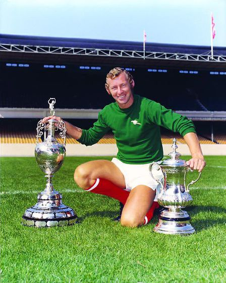 Bob, during his playing days, pictured at Highbury after winning the League and FA Cup Double in 197