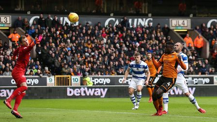 Wolverhampton Wanderers' Alfred N'Diaye scores his side's first goal against Queens Park Rangers (pi