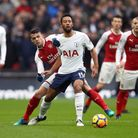 Tottenham Hotspur's Mousa Dembele (right) and Arsenal's Granit Xhaka battle for the ball during the