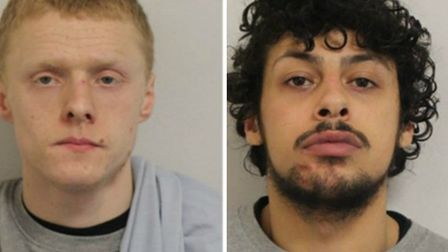 Jailed: phone snatchers Jack Burt and Jack Marsh. Picture: Met Police