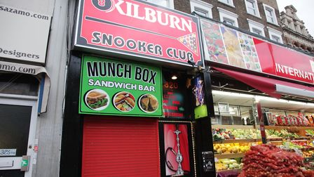 Kilburn Snooker aka Poolcrest was fired on in a gun attack. Picture: JONATHAN GOLDBERG