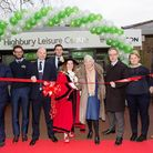 The ribbon is cut on the new leisure centre. Picture: GLL
