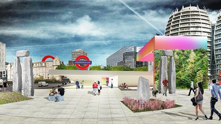 The D*Haus Company's 'Stone Circle' proposal for the Old Street competition. Picture: The D*Haus Com
