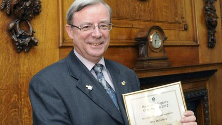 Pageant master Peter McCafferty, pictured in 2012 after winning an Islington civic award. Picture: D
