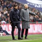 Arsenal manager Arsene Wenger (right) and Tottenham Hotspur manager Mauricio Pochettino during the P