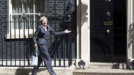 The Prime Minister outside No. 10 Downing Street. (Photo by Carl Court/Getty Images)