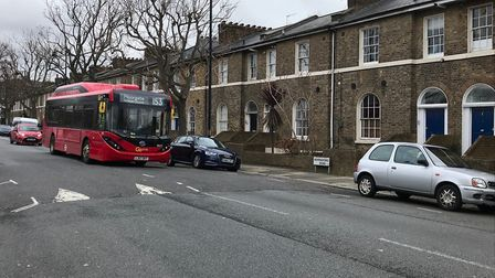 The new electric powered 153 in action in Hemingford Road, Barnsbury. Picture: TfL