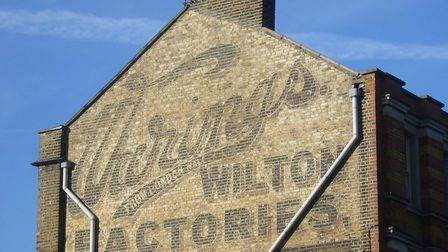 The Warings Wilton Factories sign in Shepperton Road. Picture: Sam Roberts/Ghostsigns