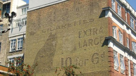 The Black Cats Cigarettes sign in Dingley Road. Picture: Sam Roberts/Ghostsigns