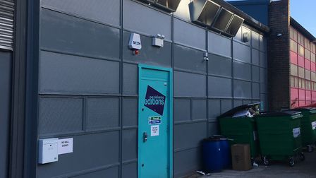 The Deliveroo Editions unit in Roman Way Industrial Estate. Picture: James Morris