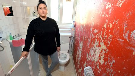 Billie Harris, who lives in the Cally's Hyde Village Estate, has accused Hyde of neglect. Picture: P