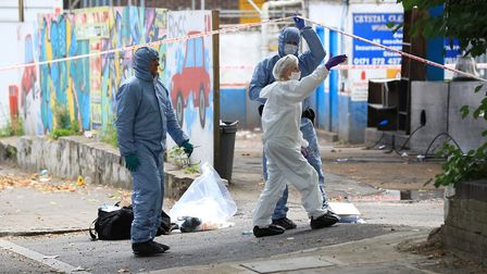 Forensics officers in Sunnyside Road in the aftermath of Dawood's killing. Picture: Jonathan Brady/P