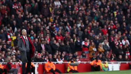 Arsenal manager Arsene Wenger looks on during the Premier League match against Watford (pic Jonathan