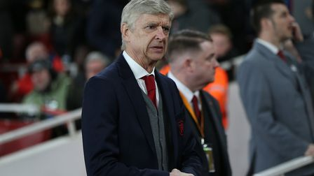 Arsenal manager Arsene Wenger before the Europa League match between Arsenal and A.C. Milan at the E